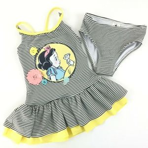 Disney Store Girls Snow White Swimsuit Sz 3